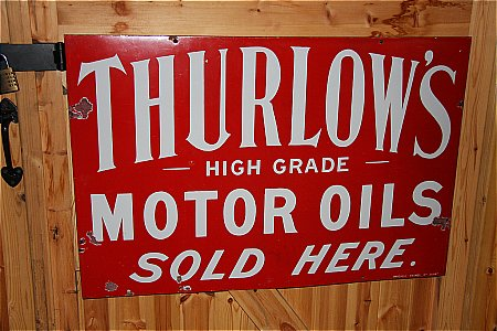 THURLOWS MOTOR OIL - click to enlarge