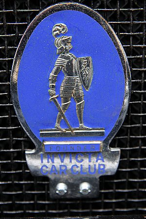 "INVICTA ""FOUNDER"" MEMBERS CAR BADGE - click to enlarge"