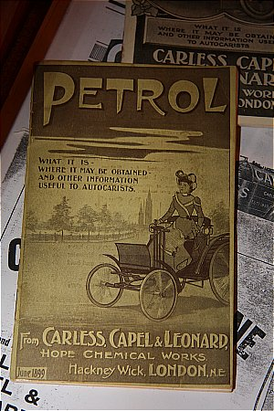 CARLESS 1899 PETROL BROCHURE - click to enlarge