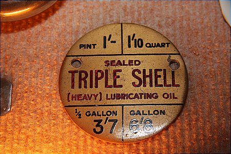 TRIPLE SHELL PRICE PLAQUE - click to enlarge