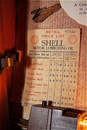 SHELL 1921 PRICE LIST - click to enlarge