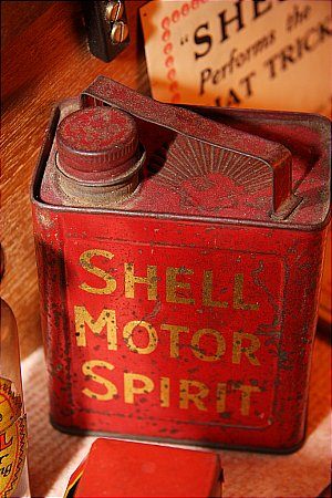 SHELL SPIRIT PEDAL CAR CAN - click to enlarge