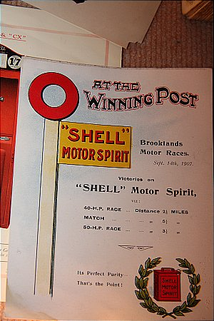 SHELL BROOKLANDS AD CARD - click to enlarge