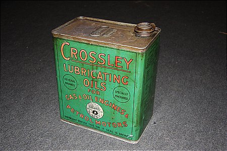 CROSSLEY TWO GALLON CAN - click to enlarge