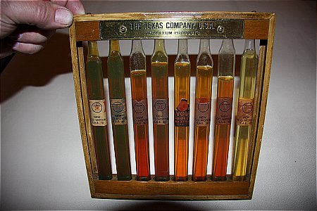 TEXACO SAMPLE RACK - click to enlarge