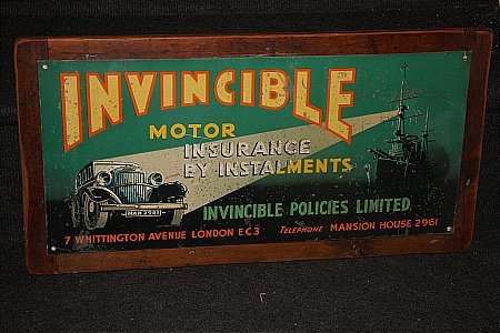INVINCIBLE MOTOR INSURANCE - click to enlarge