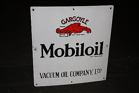 MOBIL OIL CABINET SIGN - click to enlarge