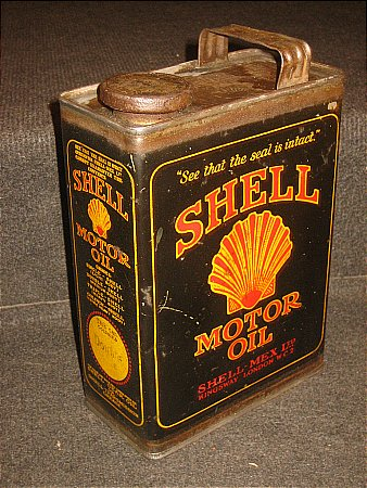 SHELL (Black) HALF GALLON CAN - click to enlarge