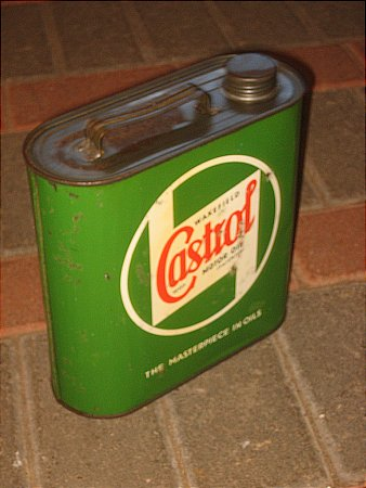 CASTROL HALF GALLON OVAL CAN - click to enlarge