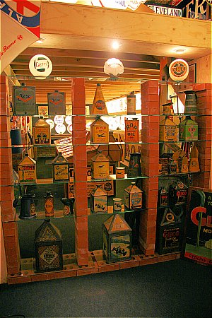 PICTORIAL OIL CANS (From the 20's & 30's) - click to enlarge