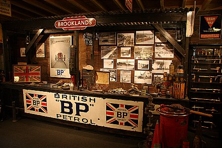 BROOKLANDS PITS (in the garage) - click to enlarge