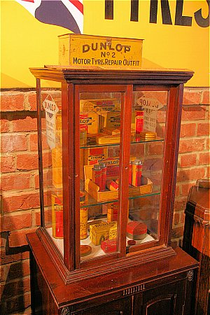 DUNLOP GLASS CABINET - click to enlarge