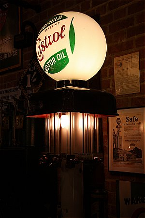 CASTROL GLOBE (Etched) - click to enlarge
