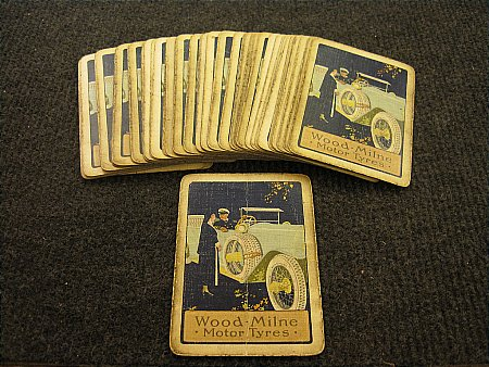 WOOD-MILNE TYRES PLAYING CARDS - click to enlarge