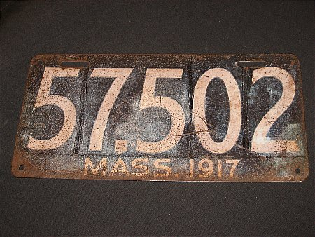 EARLY AMERICAN NUMBER PLATE - click to enlarge