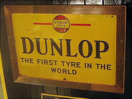 """DUNLOP """"FIRST TYRE IN THE WORLD"""". - click to enlarge"""