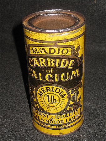 RADIO CARBIDE TIN - click to enlarge