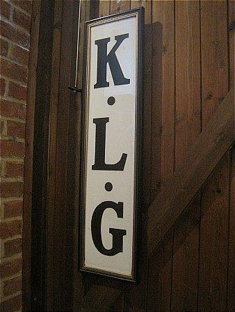 K.L.G. ENGRAVED MARBLE SIGN - click to enlarge