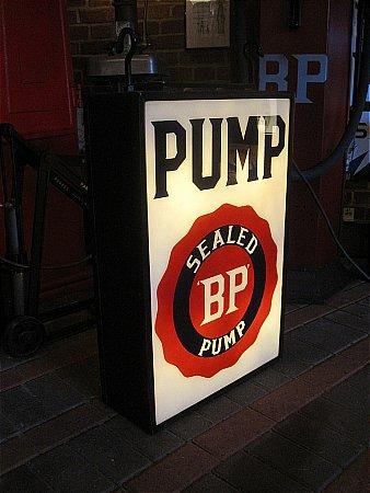 """B.P."" SEALED PUMP LIGHTBOX - click to enlarge"
