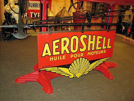 AEROSHELL DOUBLE SIDED OIL SIGN - click to enlarge