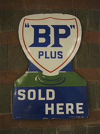 B.P.PLUS DOUBLE DIECUT SIGN. - click to enlarge