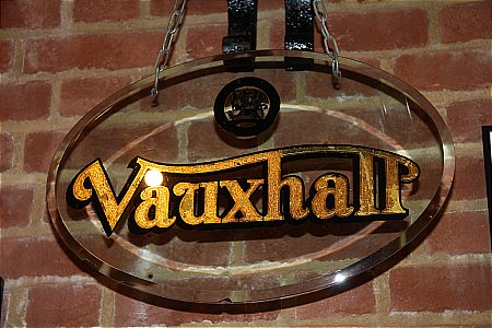 VAUXHALL GLASS SIGN - click to enlarge