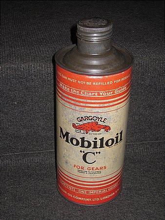 "MOBILOIL ""C"" QUART. - click to enlarge"