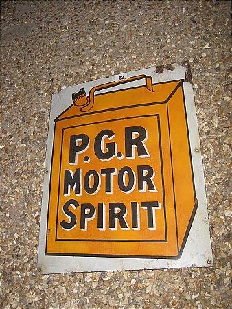 P.G.R.MOTOR SPIRIT - click to enlarge