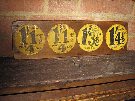SET OF SHELL PRICE SIGNS - click to enlarge