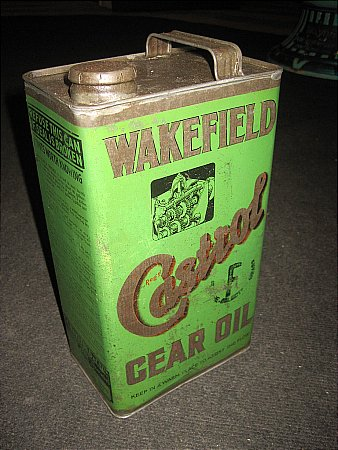 """CASTROL """"F"""" GALLON CAN - click to enlarge"""
