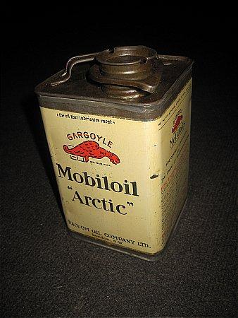 "MOBILOIL ""ARTIC"" QUART. - click to enlarge"