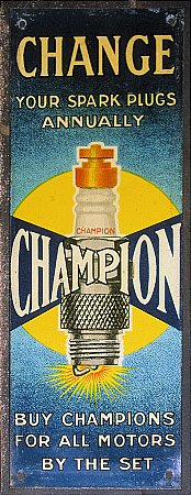CHAMPIOM SMALL TIN SIGN - click to enlarge