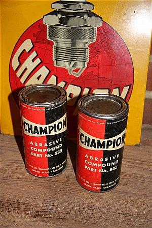 CHAMPION SPARK PLUG GRIT TINS - click to enlarge