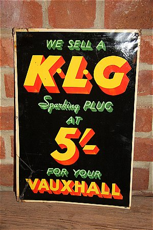 K.L.G. PLUGS  VAUXHALL - click to enlarge