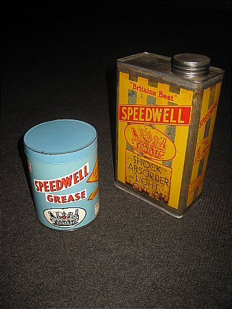 SPEEDWELL OIL & GREASE TINS - click to enlarge