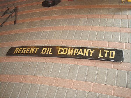 REGENT OIL LORRY SIGN. - click to enlarge
