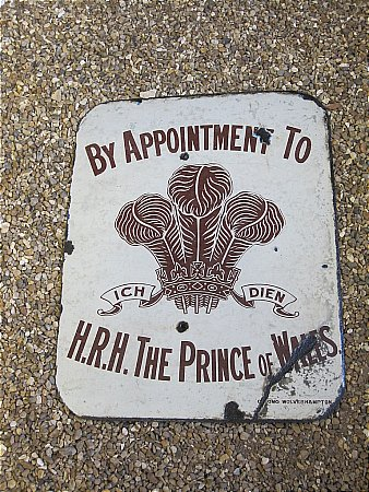 BY APPOINTMENT TO H.R.H. PRINCE OF WALES - click to enlarge