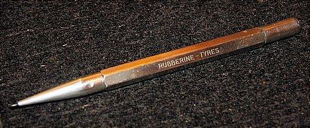 RUBBERINE TYRES SILVER PENCIL - click to enlarge