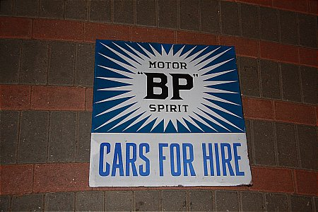 B.P. CARS FOR HIRE - click to enlarge