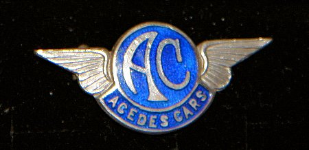 Enamel Badge. A.C. CARS - click to enlarge