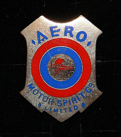 Enamel Badge. AERO MOTOR SPIRIT - click to enlarge
