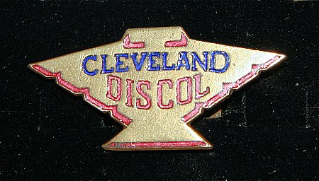 Enamel Badge. CLEVELAND DISCOL - click to enlarge