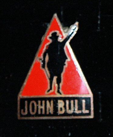 Enamel Badge. JOHN BULL - click to enlarge
