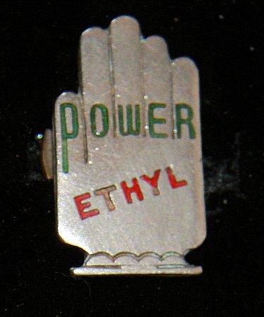 Enamel Badge. POWER ETHYL - click to enlarge