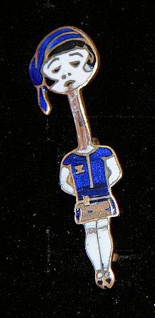 Enamel Badge. PRATTS LADY - click to enlarge