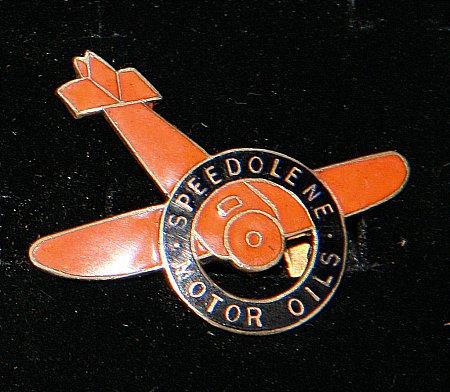 Enamel Badge. SPEEDOLENE AEROPLANE - click to enlarge