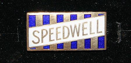 Enamel Badge. SPEEDWELL (Rectangular) - click to enlarge