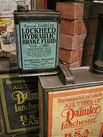 LOCKHEED DAIMLER BRAKE FLUID - click to enlarge