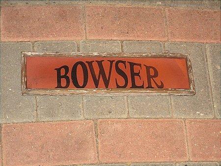 BOWSER PUMPS SIGN - click to enlarge