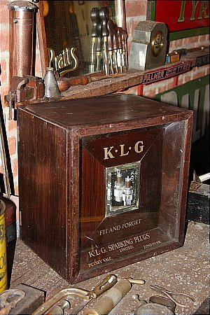 K.L.G. SPARK PLUG CABINET - click to enlarge